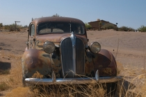 Forgotten car in the New Mexico desert
