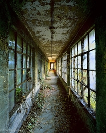 Forgotten hallway on Ellis Island by Stephen Wilkes