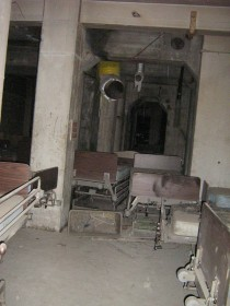 Forgotten hospital beds in an abandoned Sugar Factory in Canada