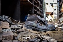 Forgotten shoe in a old coal factory - France