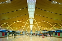 Form meets function The roof supports at Kunming airport