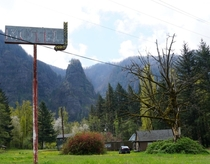Former Motel site in the Columbia River Gorge Dodson Oregon