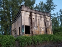 Former Oregon Electric Railway Grey Substation - Albany Oregon