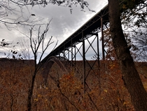 Former Worlds Longest Single-Arch Bridge - New River Gorge  OC