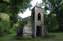 Forsaken little church originally built in  Chackbay Louisiana Photo by SalemCat
