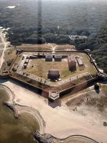 Fort Clinch Civil War Fort Amelia Island Florida I took this a few years back from a helicopter