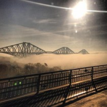 Forth road bridge Scotland - In fogmist