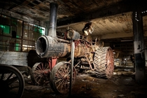 Found a Robert Bell steam powered tractor in an abandoned garage in Detroit These were manufactured from -   opacityus