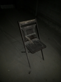 Found an Abandoned Chair from Years Gone by in the Tunnels underneath My School