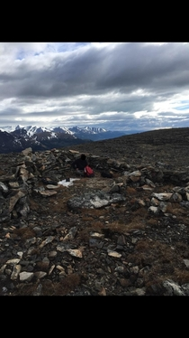 Found an abandoned shelter high at the peak of a mountain in Alaska