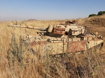 Found an abandoned tank in northern Israel