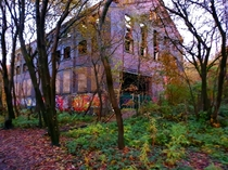 Found an abandoned Wearhouse in the middle of the woods whilst on a hike