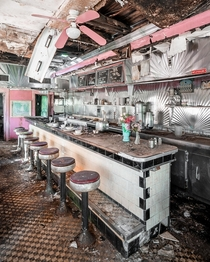 Found an old abandoned diner while driving down some back roads