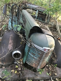 Found an old international in the woods in A remote woods in Kentucky Had bullet holes on driver side door
