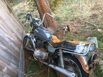 Found my old bike in the abandoned part of my parents property