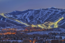 Found this great photo of Park City at night Our snow guns are going winter is coming should look like this soon
