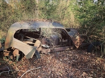 Found this last year on a hiking trail not far from the camp where I work in North East MD I dont know any details about the car sorry