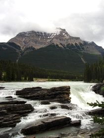 Found this photo on an old camera I took tree planting in  Athabasca Falls in Jasper National Park Alberta Canada OC
