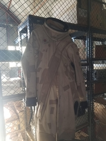 Found this suit at work today Its for hazmat incidents but you can see that it is similar to space suits used in the apollo program