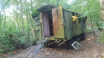Found this trailer in the middle of a forest