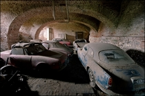 Found underneath a castle in Belgium Forgotten Italian Alfa Romeo cars Stored away for decades in a labyrinth of underground rooms and corridors