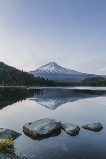 Fourth of July was peaceful at Trillium Lake Oregon