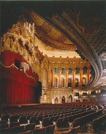 Fox Theatre auditorium Detroit Michigan Architect Howard C Crane