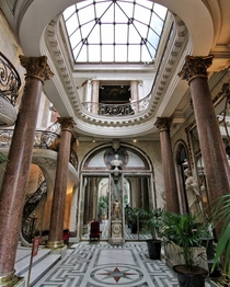 Foyer with a skylight in Muse Jacquemart-Andr a mansion completed in  now used as a private museum that showcases the collection of douard Andr and Nlie Jacquemart th arrondissement of Paris France
