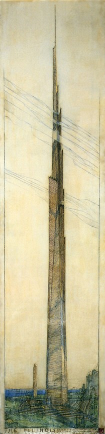 Frank Lloyd Wright The Illinois Chicago Illinois Unbuilt I WISH THEYD BUILD IT