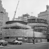 Frank Lloyd Wrights Guggenheim Museum under construction
