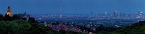 Frankfurt am Main as seen from the town of Kronberg im Taunus Germany