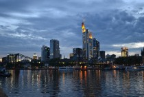 Frankfurt am Main at dawn Germany
