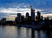 Frankfurt City at Sunset from the Main River