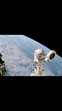 Franklin Chang-Diaz Performing a Spacewalk on the STS- Mission