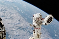 Franklin Chang-Diaz Performs a Spacewalk on the STS- Mission