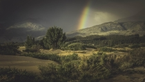 Franschhoek Pass South Africa on a stormy day in the Rainbow Nation