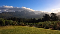 Franschhoek valley Western Cape South Africa