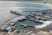 Frazerburgh Harbour Scotland - a port founded in  aerial by Colin Prior