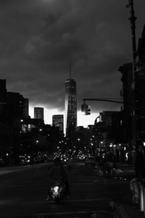 Freedom Tower from Hells Kitchen during a thunder storm