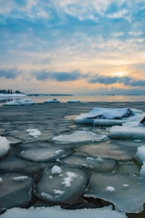 Freezing gulf of Finland in Kotka