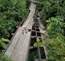French colonial narrow gauge railway on the island of Don Det Champasak Province Laos