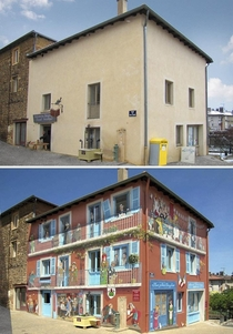 French street artist Patrick Commecy puts his eye for illusion to good use by turning rundown mundane and fairly unattractive buildings around France a much-needed makeover