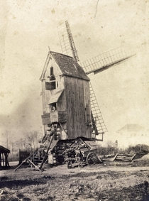 French windmill from a photo taken in
