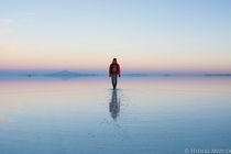Fresh and salt water lakes speckle the salt flats in Salar de Uyuni Bolivia Hideki Mizuta