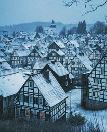 Freudenberg Germany A well-preserved fairytale village of around  timber-framed houses built in the th century