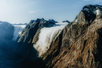 From a heli tour of New Zealands Fiordland National Park