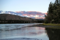 From an island in the middle of the Yukon River Canada