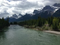 From atop the old train bridge Canmore AB