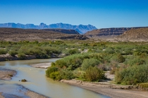 From Boquillas Mexico looking across the Rio Grande into Texas where the wall would go
