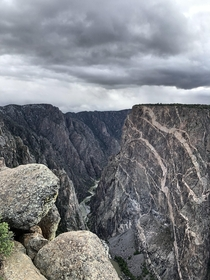 From my trip to Black Canyon last week Went from s and sunny to s and cloudysnowy in a matter of minutes Love it even more when cloudy